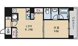 リーガルあみだ池新町[13階]の間取り