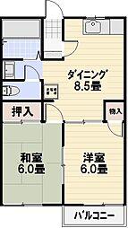 ルミエールA棟[105号室]の外観