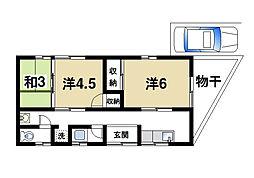[一戸建] 奈良県奈良市宝来4丁目 の賃貸【/】の間取り