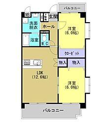 熊本県熊本市南区田井島2丁目の賃貸マンションの間取り