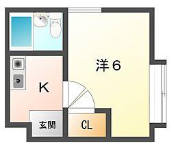 マイ来夢江種[1階]の間取り