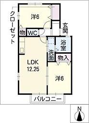 バロンドール A棟[2階]の間取り