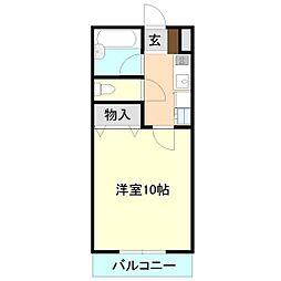 ルネッサンス二の宮[2階]の間取り