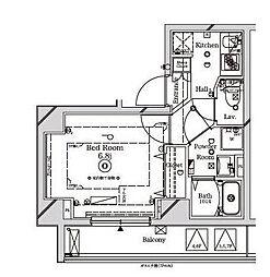 ラフィスタ西横浜[7階]の間取り