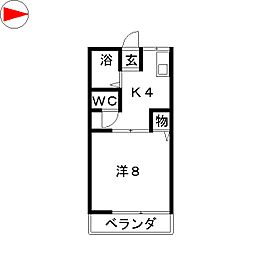 ペアシティーKASHIN[1階]の間取り