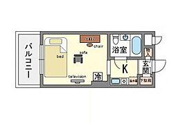 家具・家電付ダイナコート博多駅南 A[3階]の間取り