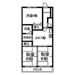 コンフォール高蔵寺[2C号室]の間取り