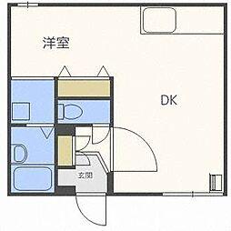 ウッディハウス93[2階]の間取り