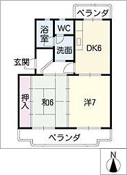 アベニューサンフラワー[4階]の間取り