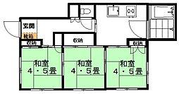 村田アパート[101号室]の間取り