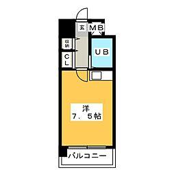 ステイタスマンション博多駅前[3階]の間取り