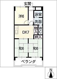 矢野マンション[5階]の間取り
