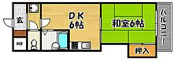 大阪府大阪市東淀川区豊新5の賃貸マンションの間取り