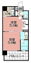 エンクレストNEO博多駅南(1108)[1108号室]の間取り