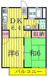 昭和ハイツB棟[202号室]の間取り