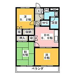 グランシャリオ96[1階]の間取り