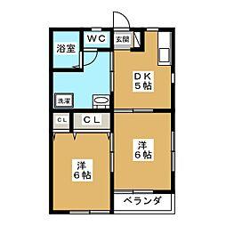 丸正アパート[1階]の間取り