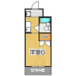 パラドール円町[205号室]の間取り