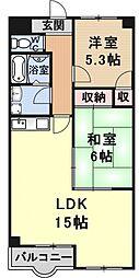 ガーデンスクエア瀬田[306号室号室]の間取り