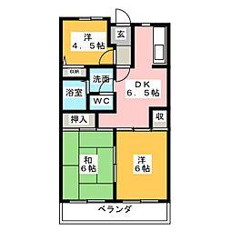 ボナールU[3階]の間取り