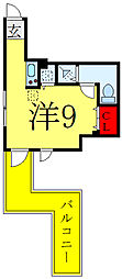 都営三田線 西巣鴨駅 徒歩5分の賃貸マンション 3階ワンルームの間取り