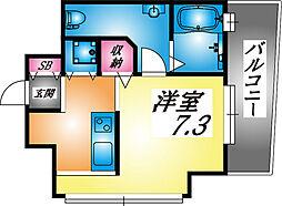 兵庫県神戸市東灘区深江北町3丁目の賃貸マンションの間取り
