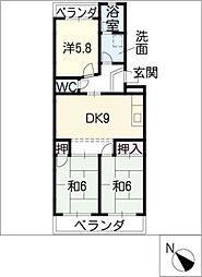 ハイドリームマンション[3階]の間取り