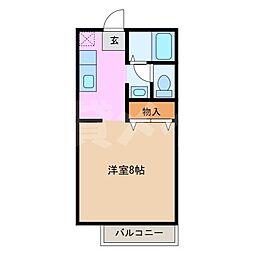 ハイツアステリオン[1階]の間取り