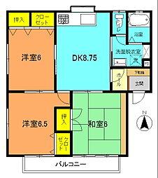 湘南330B[201号室]の間取り