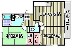 パークハウス一・二番館[1-202号室]の間取り