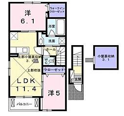 プラシード新城I[2階]の間取り