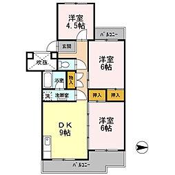 フジパレス米子[4階]の間取り