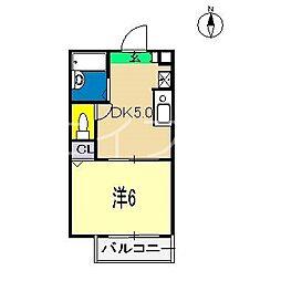 シャーメゾン愛宕[1階]の間取り