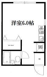 東京都足立区扇3丁目の賃貸マンションの間取り