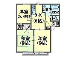 オンス小垣内[2階]の間取り