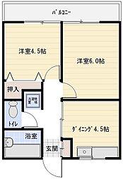 ローレル八尾本町[4階]の間取り