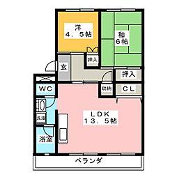 CASAアペルタ I[3階]の間取り