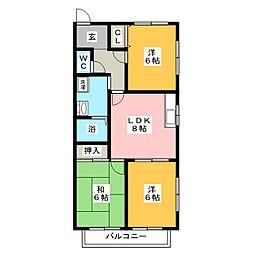 サガン諏訪[1階]の間取り