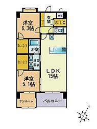 エクセレント慶[3階]の間取り