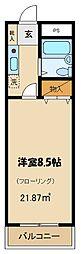 埼玉県所沢市御幸町の賃貸マンションの間取り