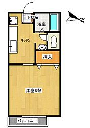TUハイツ K[B106号室]の間取り