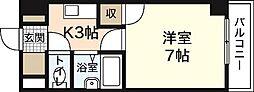 広島県広島市安佐南区長楽寺2丁目の賃貸マンションの間取り
