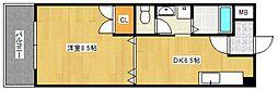 クラウンV[6階]の間取り