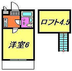 千葉県船橋市西習志野1丁目の賃貸アパートの間取り