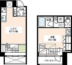 カスタリア尾山台[1階]の間取り