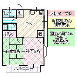 コーポさとう A[202号室号室]の間取り