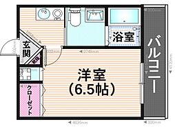 カーサモトーレ[2階]の間取り