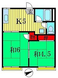 メゾン柴又[2階]の間取り