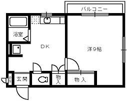 パルコート清水[2階]の間取り