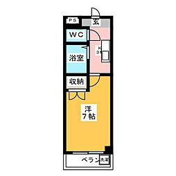 レオン八事 西館[2階]の間取り